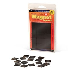 Hygloss 61241 24 Piece Self-Adhesive Magnet Squares, 1