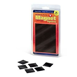 Hygloss 61407 40 Piece Self-Adhesive Magnet Squares, 3/4