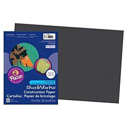 SunWorks Heavyweight Construction Paper, Black 12
