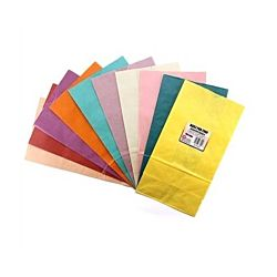 Hygloss Flat Bottom Paper Bags, 5 by 3-Inch by 9.3/4, Assorted Colors, 100-Pack