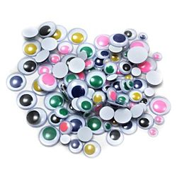 Wiggle Eyes, Assorted Sizes & Colors, 100 Per Bag