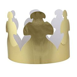 Hygloss Bright Shiny Metallic Gold Creative Crowns Pack Of 24
