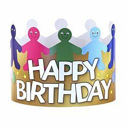 Hygloss  24-Piece Happy Birthday Paper Crowns 65255