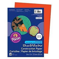 SunWorks Heavyweight Construction Paper, Orange 9