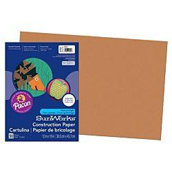SunWorks Heavyweight Construction Paper, Brown 12