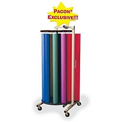 PACON® ROTARY RACK WITH 10 DOWELS FOR ART KRAFT ROLLS  (67542)