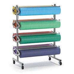 PACON® HORIZONTAL MOBILE KRAFT ROLL PAPER RACK (67780)