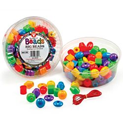 Hygloss Big Beads 68100 - 16 oz (Approx. 100 Beads) - Opaque