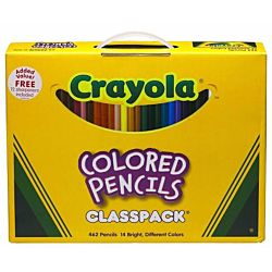 Crayola 462 Colored Wood case Pencil Class pack 14 Assorted Color Sets/Box (688462)