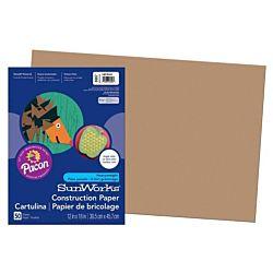 SunWorks Heavyweight Construction Paper, Light Brown 12