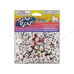 Alphabet Bead Kit 300 pc. White