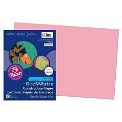SunWorks Heavyweight Construction Paper, Pink 12