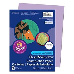 SunWorks Heavyweight Construction Paper, Lilac 9
