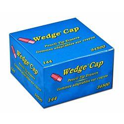 Dixon Wedge Pencil Cap Erasers, Box of 144, Pink , 34500