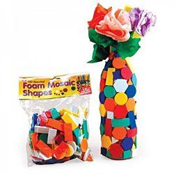 Hygloss Foam Mosaic Shapes - 500 Assorted Shapes HG-72500