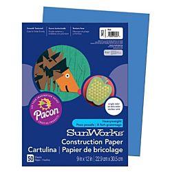 SunWorks Heavyweight Construction Paper, Blue 9