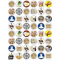 Jewish Pesach Stickers