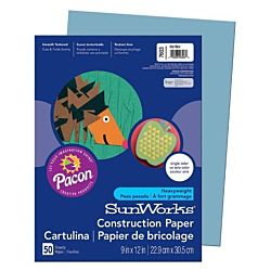 SunWorks Heavyweight Construction Paper, Sky Blue 9