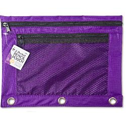 Pencil Pouch with 1 Pocket, Front Mesh Pocket