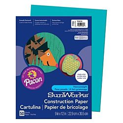 SunWorks Heavyweight Construction Paper, Turquoise 9
