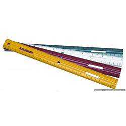 Charles Leonard Plastic Ruler, 12 Inches, Assorted Colors