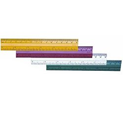 Charles Leonard Plastic Ruler, 6 Inches, Assorted Colors