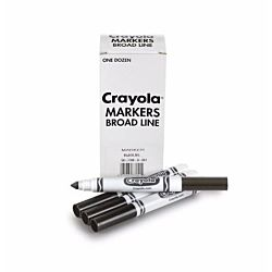 Crayola 12 Count Black Original Bulk Markers 58-7800-51