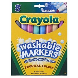 Crayola 8ct Washable Tropical Colors Conical Tip 58-7816