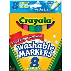 Bright Colors 8 Pkg Crayola Broad Line Washable Markers 58-7819