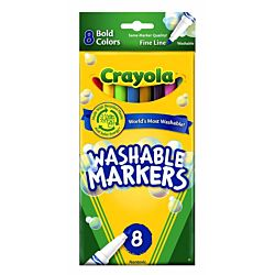 Crayola 8 Count Washable Markers Bold Colors Fine Tip 58-7836