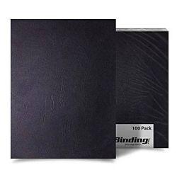 Black Grain Binding Covers 100 sheets