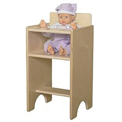 Wood Designs Wood Doll High Chair , WD-81100