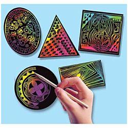 Melissa & Doug Scratch Art Geometric Scratchin' Shapes; Group Pack 1403
