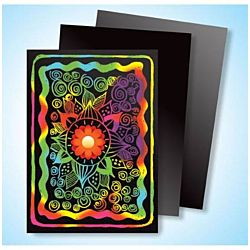 Melissa & Doug Scratch Art Multicolor Board Artist Trading Cards  1427