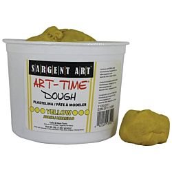 Sargent Art 3-Pound Art-Time Dough, Yellow,  85-3302