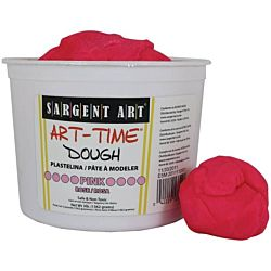Sargent Art 3-Pound Art-Time Dough, Pink,  85-3329