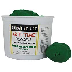 Sargent Art 3-Pound Art-Time Dough, Green,  85-3366