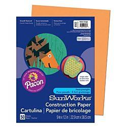 SunWorks Heavyweight Construction Paper, Yellow-Orange 9