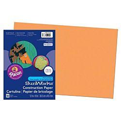 SunWorks Heavyweight Construction Paper, Yellow-Orange 12