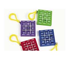 Plastic Tic Tac Toe Games With Clip , 12 units
