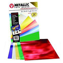 Hygloss 25 Metallic Foil Board, 8.5