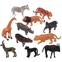 Get Ready Kids Zoo Wild Animal Playset of 12