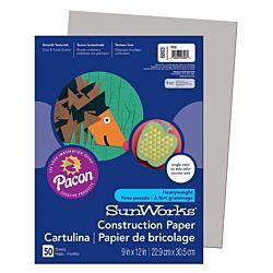 SunWorks Heavyweight Construction Paper, Gray 9