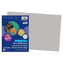SunWorks Heavyweight Construction Paper, Gray 12
