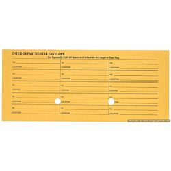 #11 Interoffice Envelopes, Printed 1-Side, 4-1/2x10-3/8, Kraft, 500/Bx