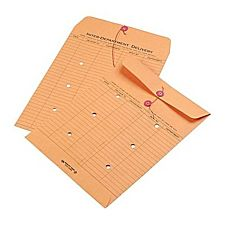 String & Button Two-Sided Standard Style Inter-Department Envelopes, 10