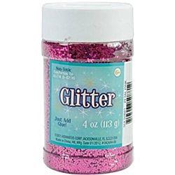 Creative Arts Craft Glitter, 4 oz. Bottle, Pink