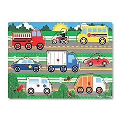 Melissa & Doug Vehicles Peg Wooden Puzzle - 8 Pieces, item 9051