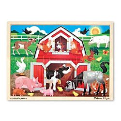 Melissa & Doug Barnyard Buddies Wooden Jigsaw Puzzle - 24 Pieces, item 9061