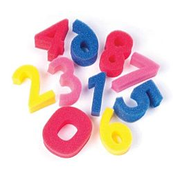Numbers Shapes Sponges Set of 10